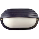 Sunlite 48208-SU Decorative Outdoor Energy Saving Eurostyle Oblong Hooded Fixture, Black Finish, Frosted Lens