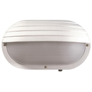 Sunlite 48210-SU Decorative Outdoor Energy Saving Eurostyle Oblong Hooded Fixture, White Finish, Frosted Lens