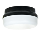 Sunlite 48216-SU Decorative Outdoor Energy Saving Protek Round Fixture, Black Finish, White Lens