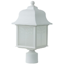 Sunlite 48222-SU Decorative Outdoor Energy Saving Orchid Post Fixture, White Finish, Frosted Lens