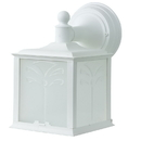 Sunlite 48226-SU Decorative Outdoor Energy Saving Orchid Down Fixture, White Finish, Frosted Lens