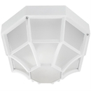 Sunlite 48242-SU Decorative Outdoor Energy Saving Octagonal Collection Fixture, White Finish, Frosted Lens