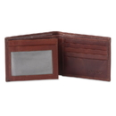 Style N Craft 301766-BN Bi-fold Wallet with Side Flap in Cow Leather