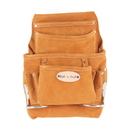Style N Craft 91923 10 Pocket Nail and Tool Pouch in Suede Leather