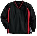 Sport-Tek - Tipped V-Neck Raglan Wind Shirt. JST62.