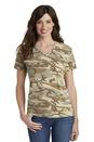 Port & Company Ladies 5.4-Oz 100% Cotton V-Neck Camo Tee. LPC54VC.