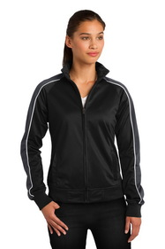 Sport-Tek Ladies Piped Tricot Track Jacket. LST92.