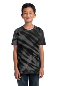 Port & Company - Youth Essential Tiger Stripe Tie-Dye Tee. PC148Y.