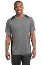 Sport-Tek - Heather Colorblock Contender Tee. ST361.