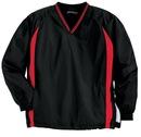Sport-Tek Tall Tipped V-Neck Raglan Wind Shirt. TJST62.
