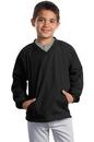 Sport-Tek - Youth V-Neck Raglan Wind Shirt. YST72.