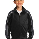 Sport-Tek Youth Piped Tricot Track Jacket. YST92.