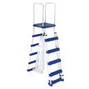 Blue Wave NE1217 52-in A-Frame Ladder w/ Safety Barrier and Removable Steps for Above Ground Pools