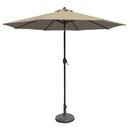 Blue Wave NU5422B 9' Octagon Autotilt Market Umbrella - Beige Sunbrella Acrylic