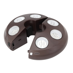 TREASURE GARDEN - VEGA-L-00 Rechargeable 6 Light Bronze Umbrella Light