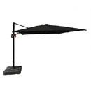 Blue Wave NU6070 Santorini II 10-ft Square Cantilever Umbrella in Black Sunbrella Acrylic