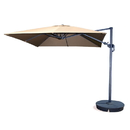 Blue Wave NU6170 Santorini II 10-ft Square Cantilever Umbrella w/ Valance in Black Sunbrella Acrylic