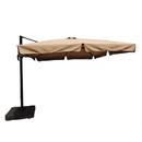 Blue Wave NU6185 Santorini II Cantilever Umbrella (10' Square) With Valance - Sunbrella Acrylic Stone