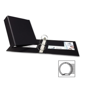 "Avery Economy Reference Ring Binder, Letter - 8.5"" x 11"" - 460 Sheet x 3"" Capacity - 1 Each - Black, Price/EA"