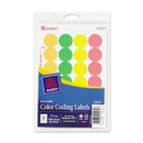 Avery Print or Write Round Color Coding Label, 0.75