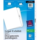 Avery Premium Collated Legal Exhibit Divider, 11 x Divider - Printed1 - 10 - 11 Tab(s)/Set - 8.50