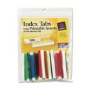 Avery Self-Adhesive Index Tabs With Printable Insert, Print-on - 25 / Pack - Assorted Tab, AVE16239
