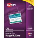 Avery Flexible Badge Holder, Horizontal - 100 / Box - Clear