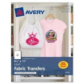 "Avery AVE3271 Avery Iron-on Transfer Paper, Letter - 8.50"" x 11"" - Matte - 6 / Pack - White, Price/PK"