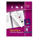 Avery Flexi-View 6-Pocket Organizer, Letter - 8.50