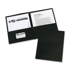 "Avery AVE47988 Avery Two Pocket Folder, Letter - 8.50"" x 11"" Sheet Size - 20 Sheet Capacity - 2 Pockets - Embossed Paper - Black - 25 / Box, Price/BX"