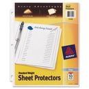 Avery Standard Weight Sheet Protector, Letter 8.50