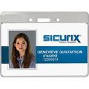 Baumgartens Proximity Badge Holder, Horizontal - Vinyl - 50 / Pack - Clear