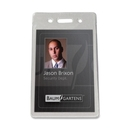 Baumgartens BAU47820 Baumgartens Proximity Badge Holder, Vertical - Vinyl - 50 / Pack - Clear