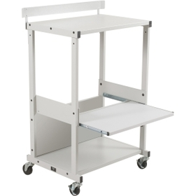 "Balt Max Stax Stand Up Workstation, 42.5"" - Metal, Steel - Gray, Price/EA"