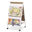 Balt Double-Sided Display Easel With Wheels, 29.80