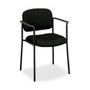 Basyx by HON VL616 Guest Chairs With Arms, Black Seat - Black Frame - 23.3