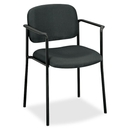 Basyx by HON VL616 Guest Chairs With Arms, Charcoal Seat - Black Frame - 23.3