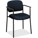 Basyx by HON VL616 Guest Chairs With Arms, Navy - Navy Blue Seat - Black Frame - 23.3