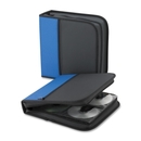 Compucessory CD/DVD Wallet, Wallet - Clamshell - Neoprene - Blue, Black - 128 CD/DVD