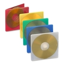 Compucessory Extra Thin CD/DVD Jewel Case, Jewel Case - Slide Insert - Plastic - Assorted