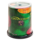 Compucessory CD Recordable Media - CD-R - 52x - 700 MB - 100 Pack Spindle, 120mm1.33 Hour Maximum Recording Time