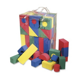 ChenilleKraft CKC4380 ChenilleKraft Wonderfoam Blocks, 68 Shape - Foam - Multicolor, Price/PK
