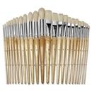 ChenilleKraft Round Wood Paint Brush Set, 24 Brush(es) - Nickel Plated Ferrule - Wood Handle - Natural