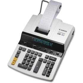 "Canon CP1213DII Professional Printing Calculator, 12 Character(s) - Fluorescent - AC Supply Powered - 12.75"" x 9.5"" x 3.25"", Price/EA"