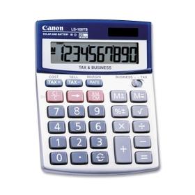 "Canon CNMLS100TS Canon LS100TSG Mini-desktop Calculator, 10 Character(s) - LCD - Solar, Battery Powered - 4"" x 5.3"" x 1.2"", Price/EA"