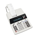 """Canon MP21DX Color Printing Calculator, 12 Character(s) - Fluorescent - AC Supply Powered - 3.7"""" x 9"""" - White"""