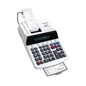 """Canon 12-Digit Business Function Print Calculator, 12 Character(s) - Fluorescent - Power Adapter Powered - 3"""" x 8.88"""" x 13"""", Price/EA"""