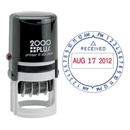 COSCO 2000 Plus Self-Inking Date and Time Stamp, Date & Time Stamp - Red, Blue