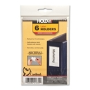 Cardinal HOLDit! Label Holders, 6 / Pack - Clear