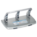 CARL HC-340 Medium-Duty Hole Punch, 3 Punch Head(s) - 40 Sheet Capacity - 9/32